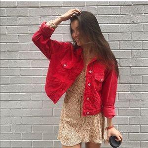 Brandy Melville red Mina corduroy jacket